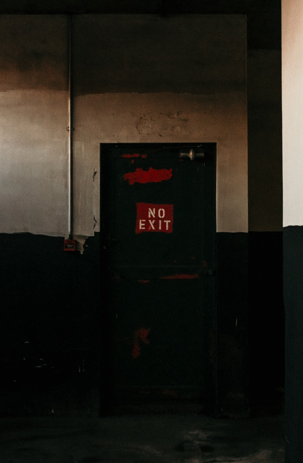 black and red fire extinguisher