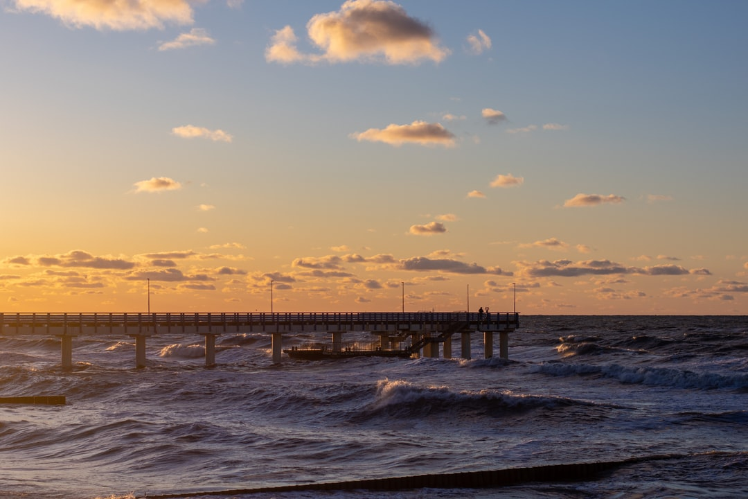 Rough sea, tender sunset