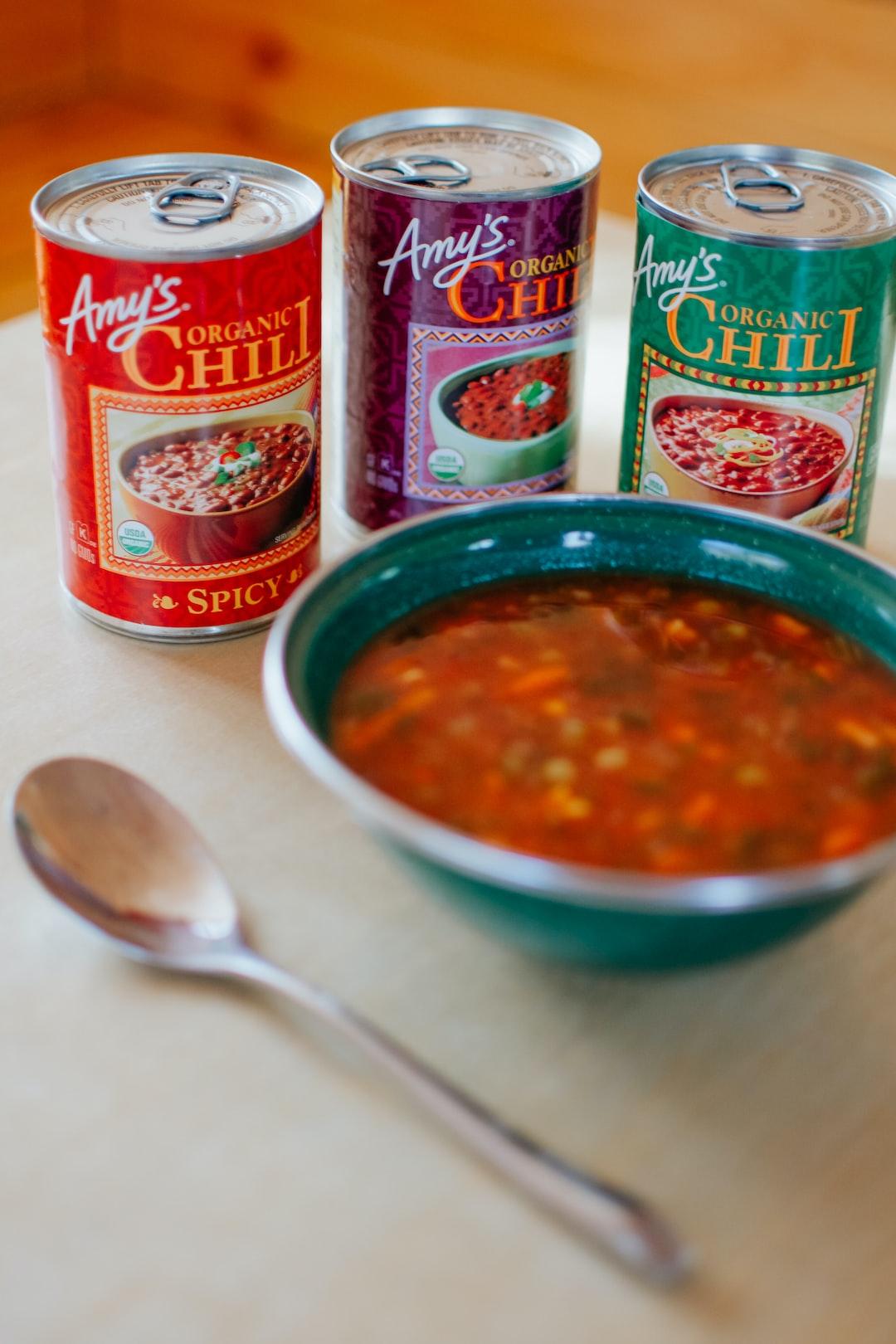 Amy's Organic Chili.
