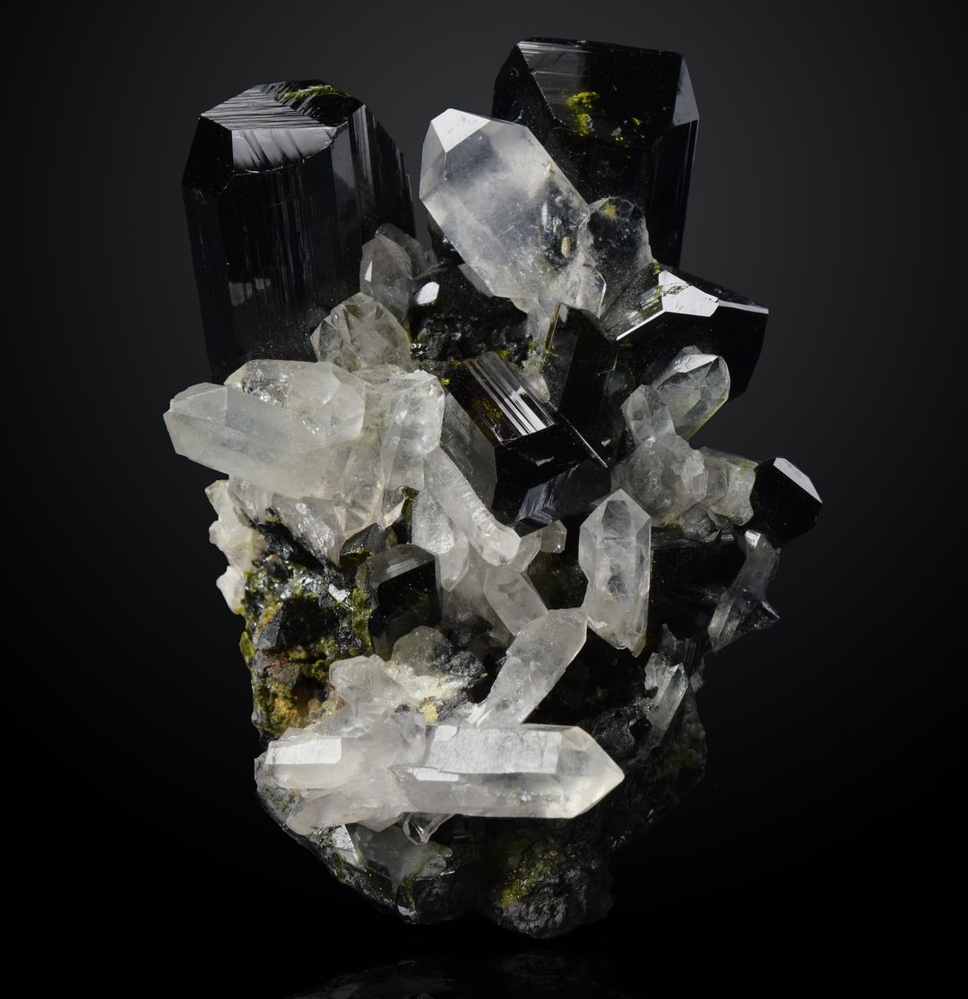Epidote is a silicate mineral used mostly as a semiprecious gemstone.
