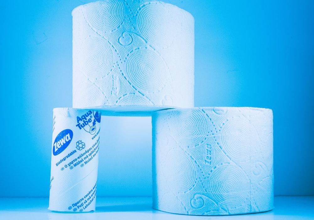 white tissue paper roll on white table