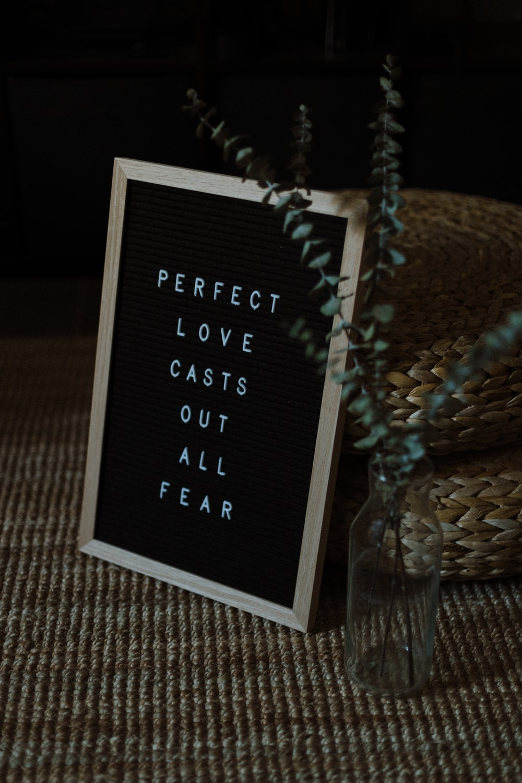 black and white quote board
