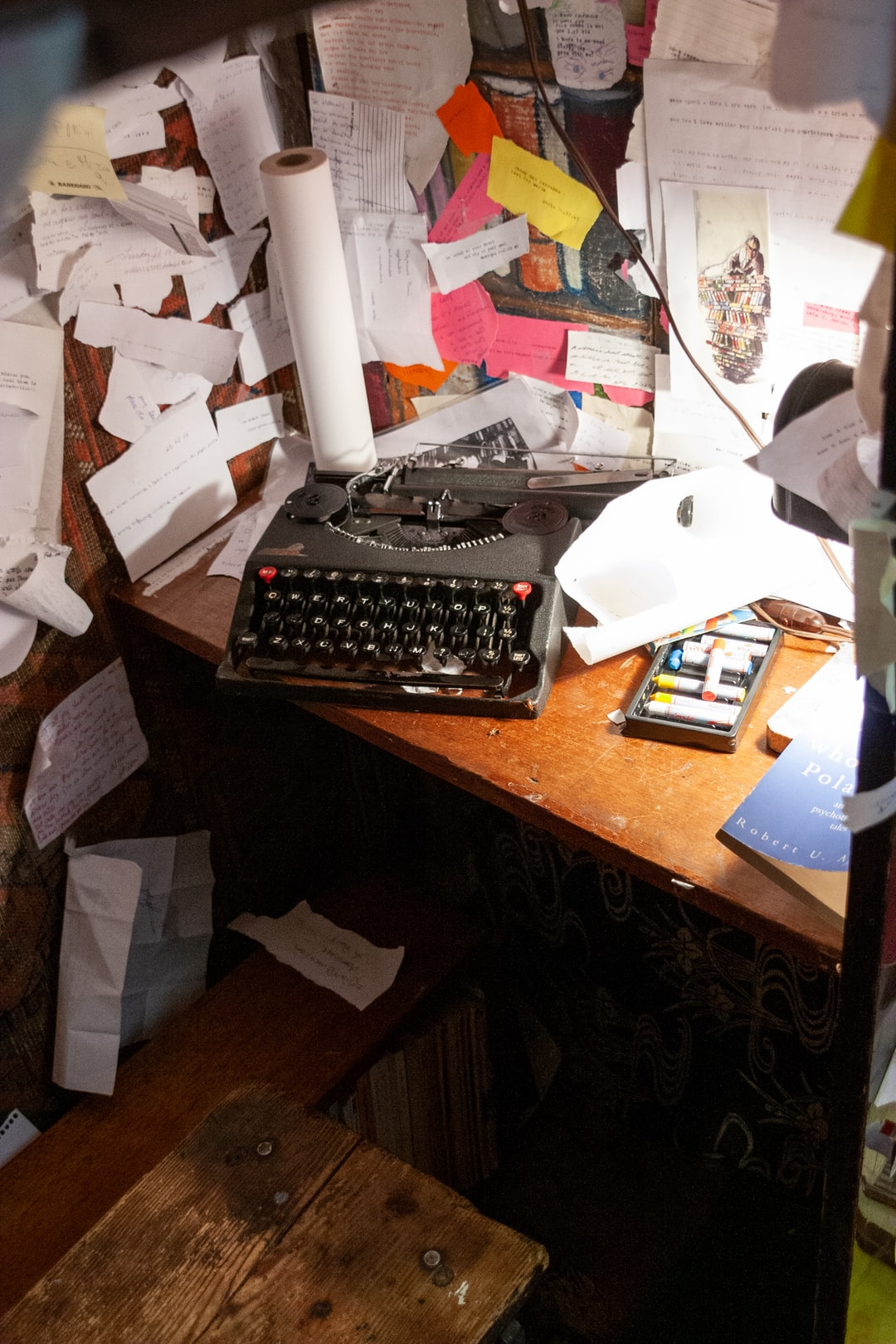 Typewriter at the Shakespeare and Company book store in Paris, France.