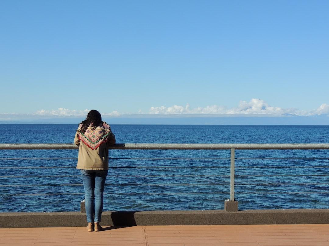 Observando el lago Llanquihue