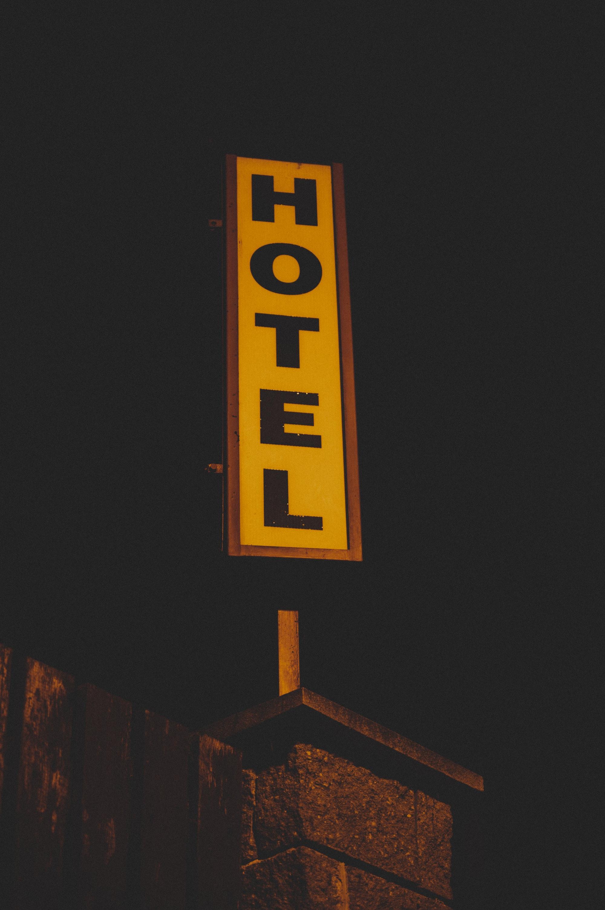 Hotel vintage sign
