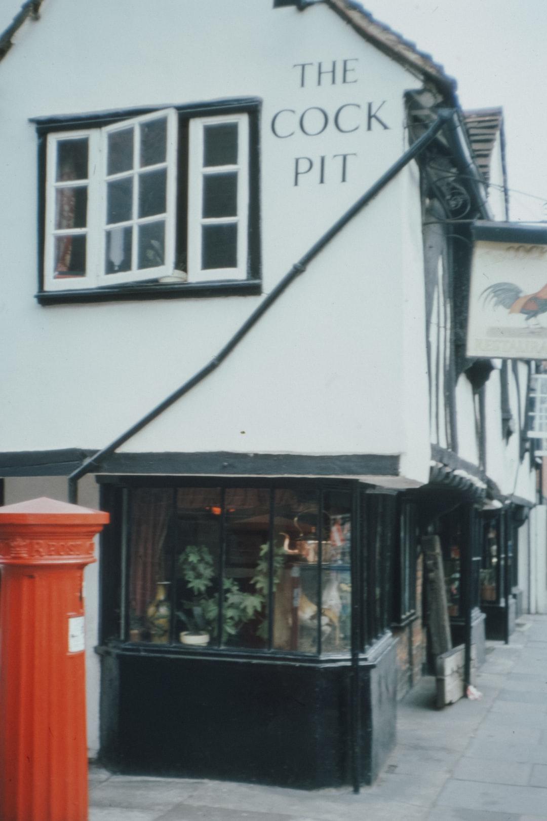 The Cock Pit pub, Eton High Street, 1970s 35mm film slide photo