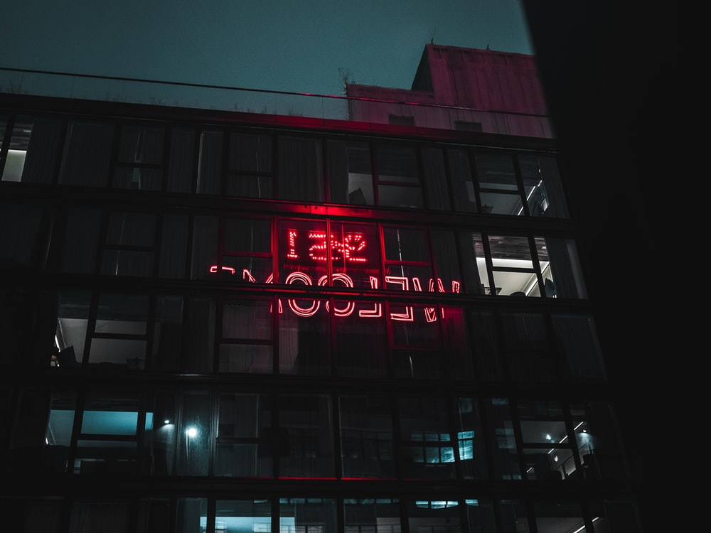 red and white led signage
