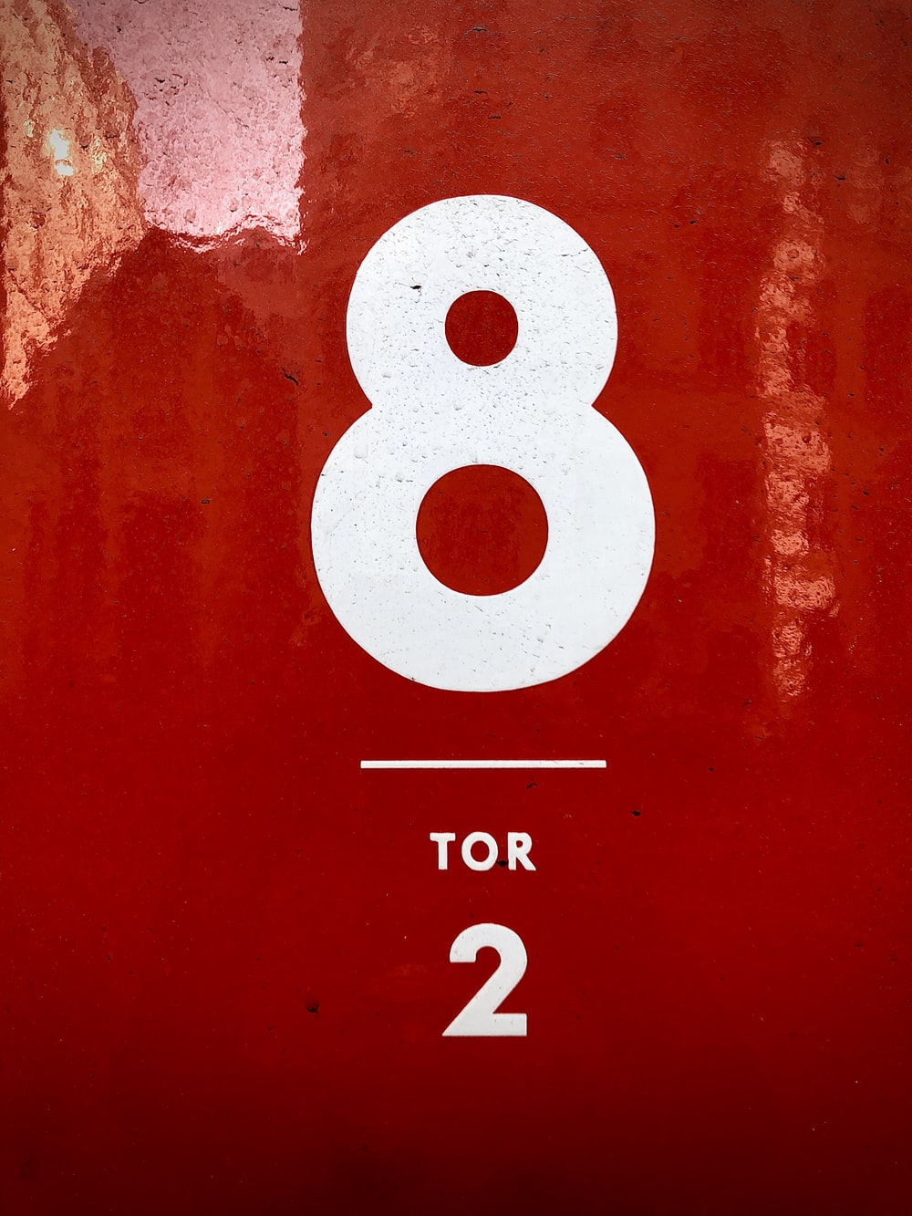 red and white number 8