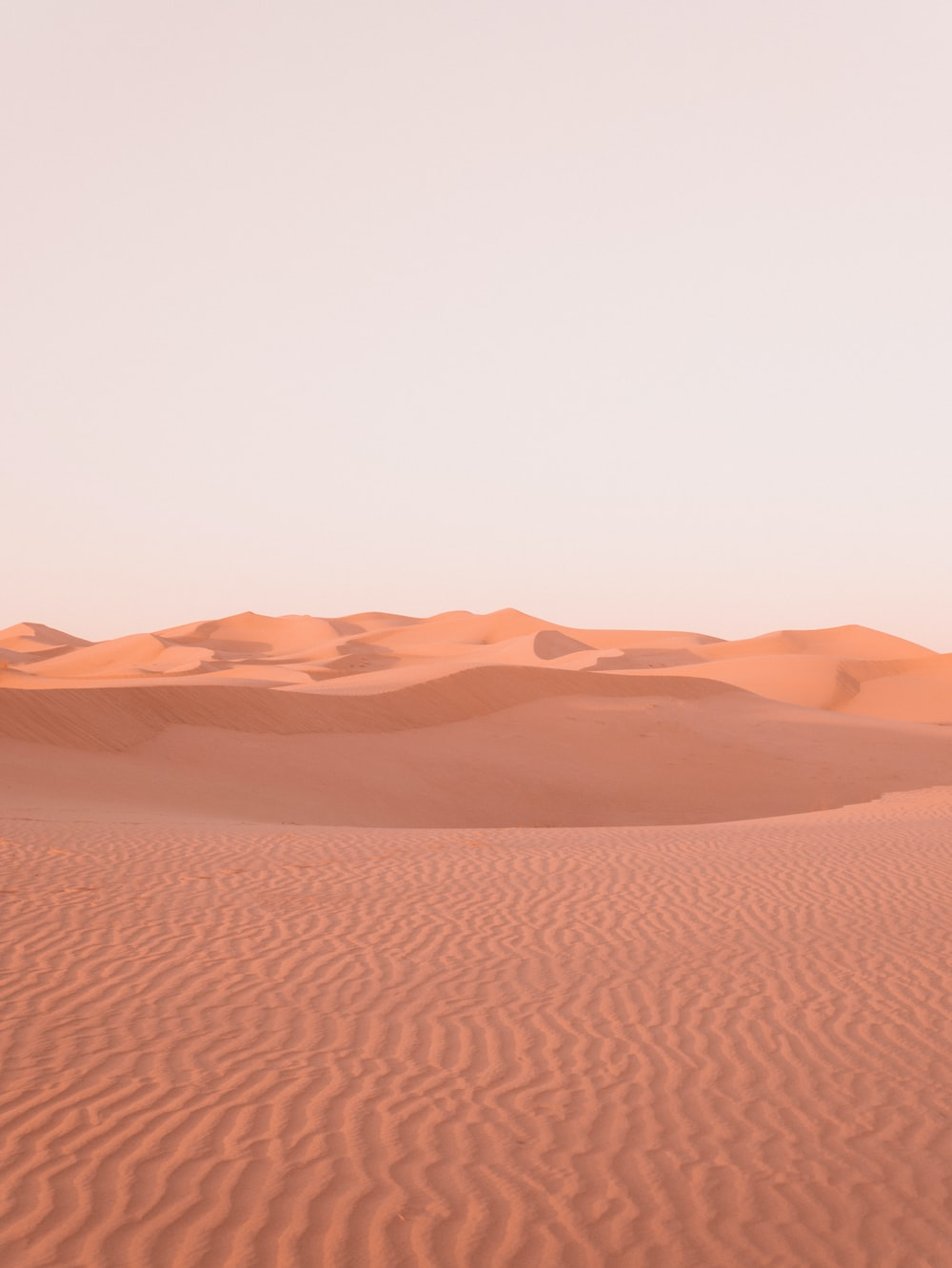 brown desert under white sky during daytime