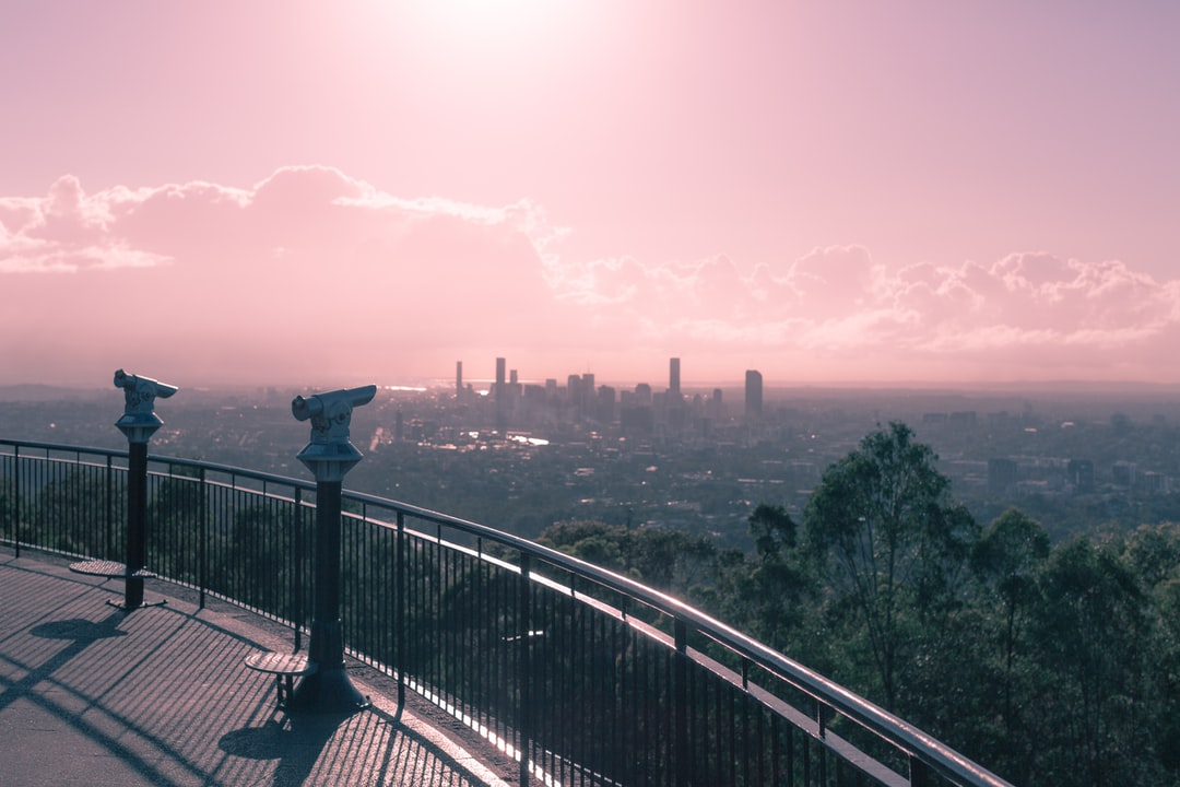 Looking out over the city of Brisbane.