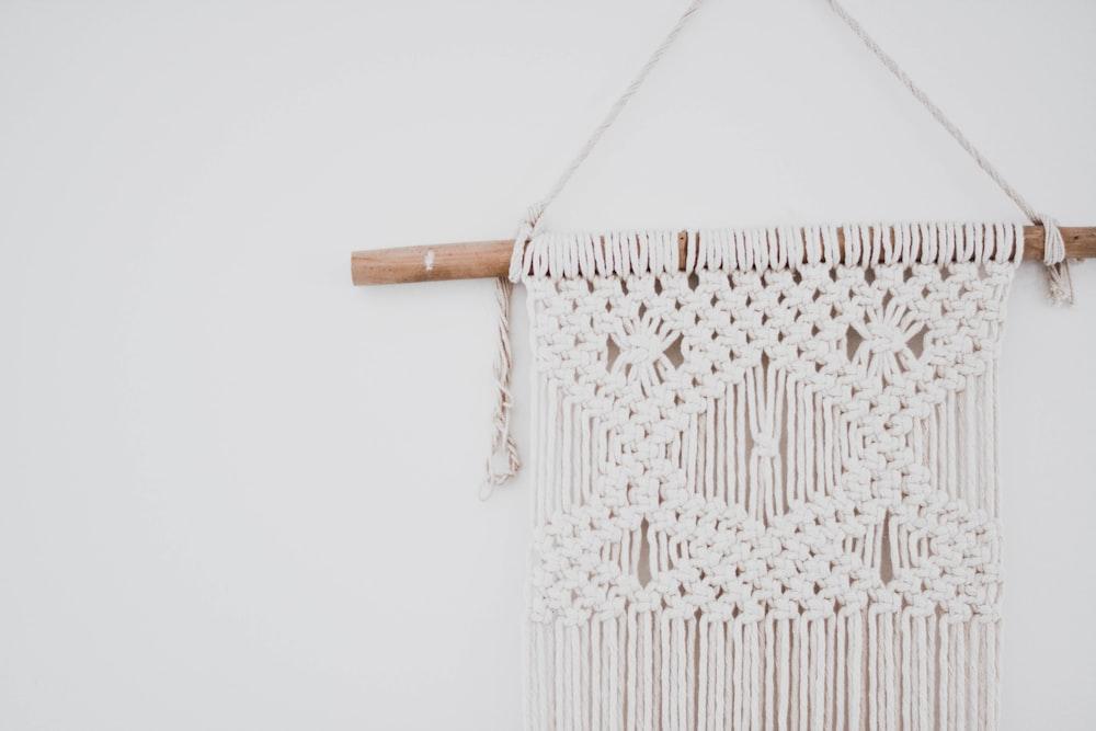 white and brown chevron print tote bag