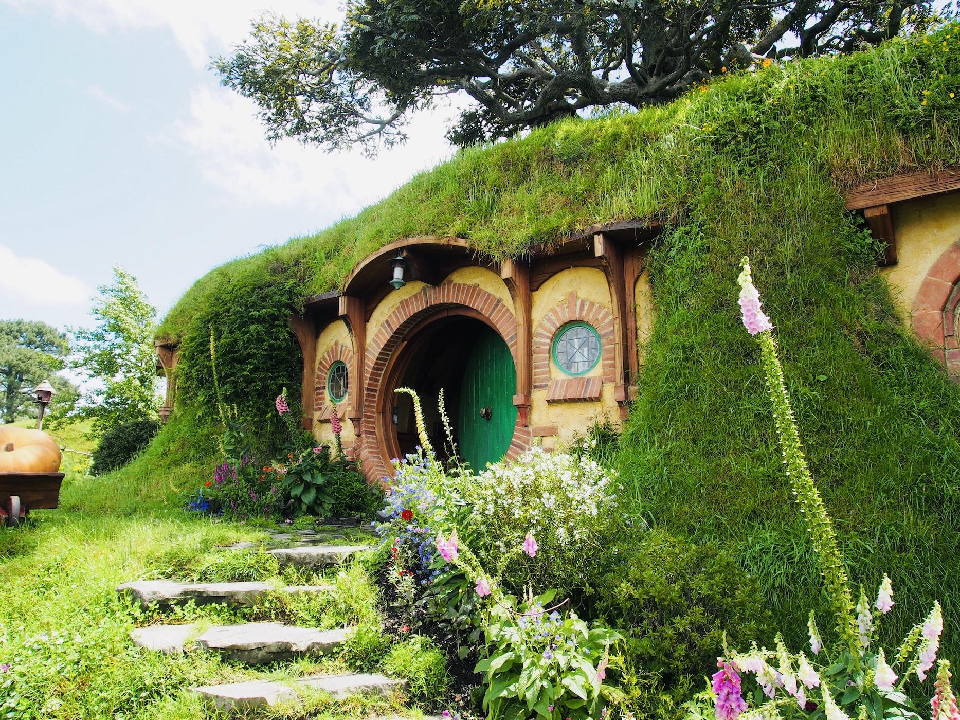 The famous Hobbiton house of Bilbo Baggins