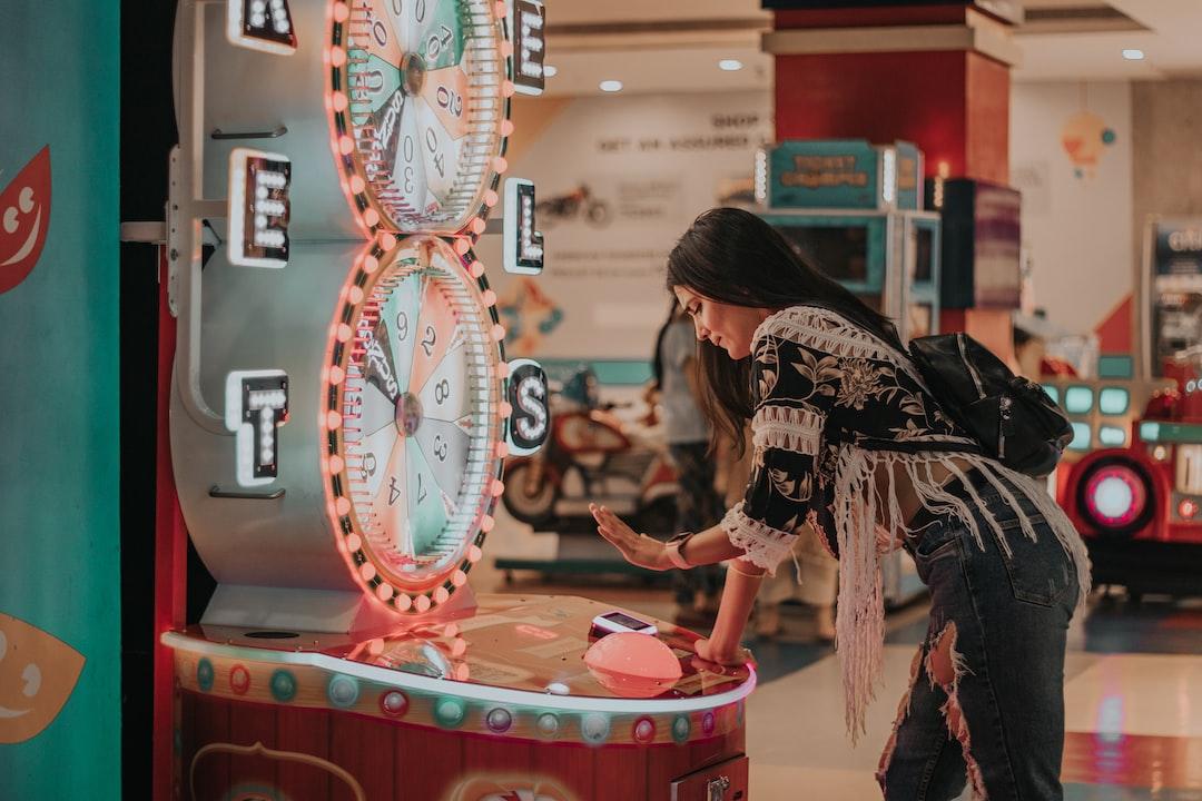 Girl at Gaming Zone
