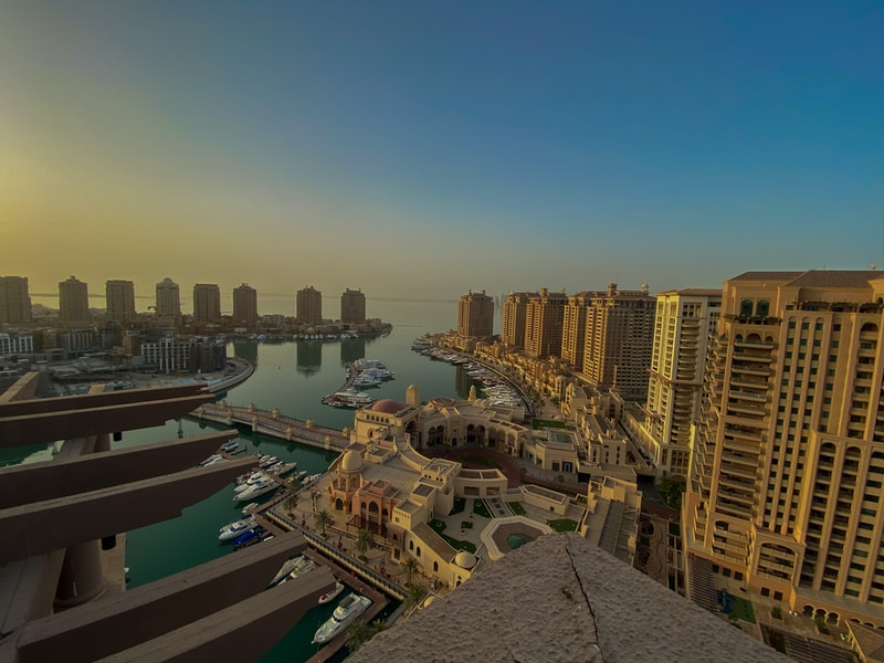Coldest places in Qatar by minimum mean temperature