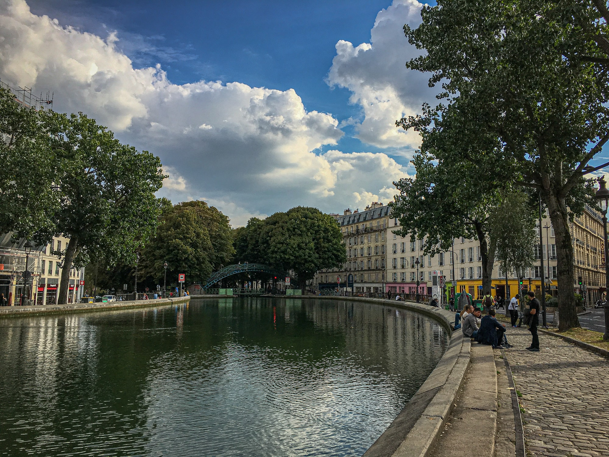 the lovely Canal Saint-Martin, Paris