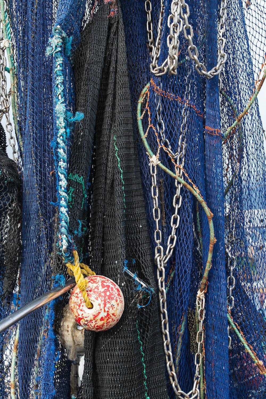 Fishing nets hung up