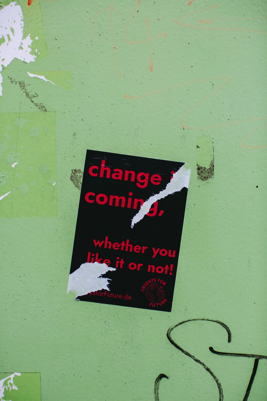 Urban Street Art Sticker – CHANGE COMING, WHETER YOU LIKE OR NOT!