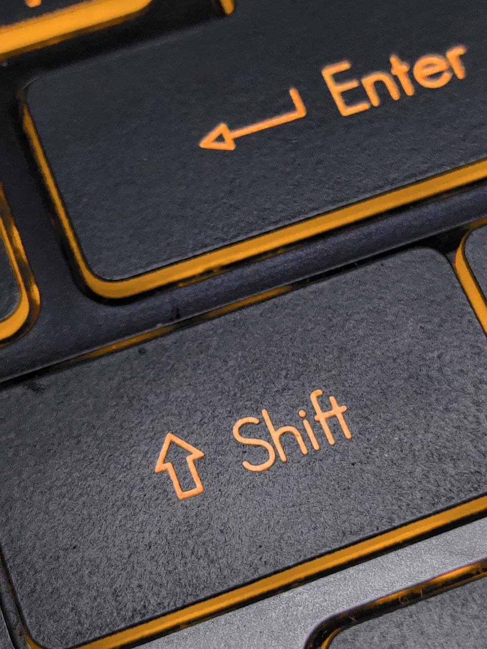 black and yellow computer keyboard