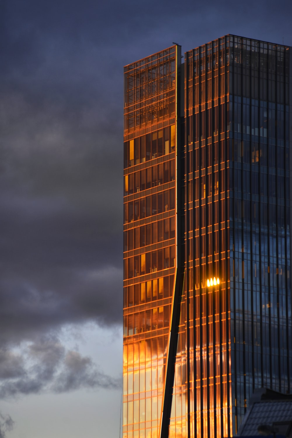 brown and black high rise building