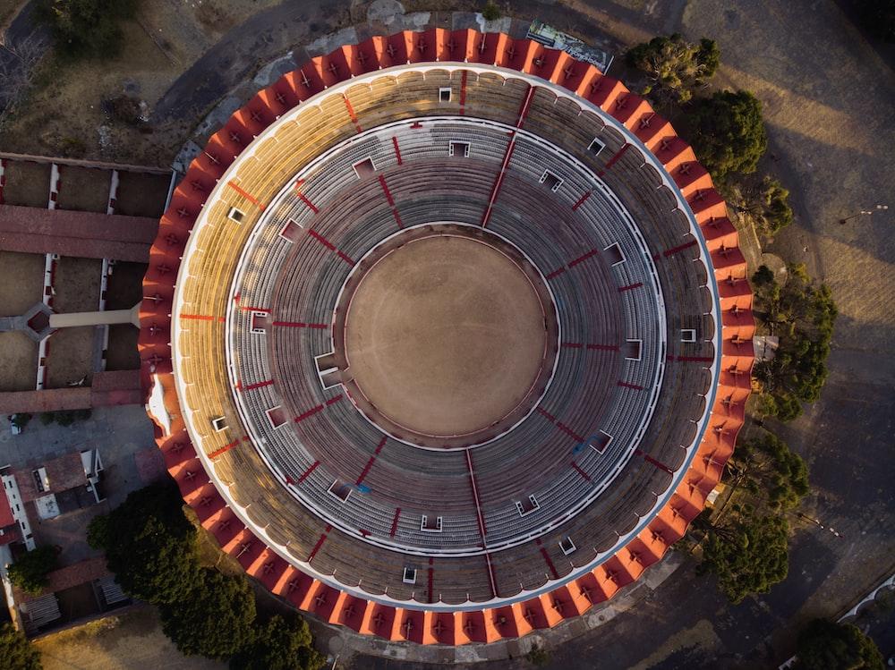 brown and gray round stadium