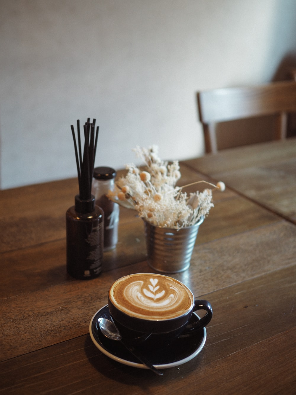 white popcorn on brown wooden table