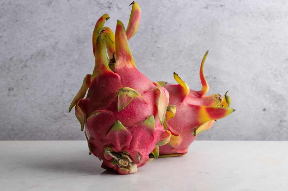 red and green dragon fruit