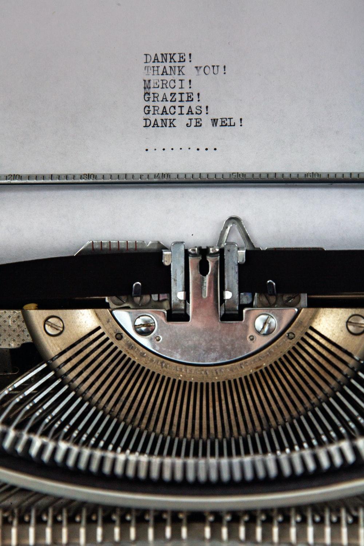 black and white braille typewriter