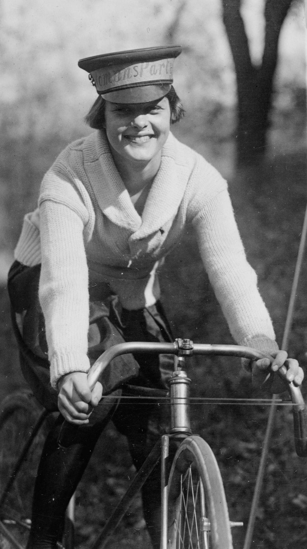 Julia Obear on bike