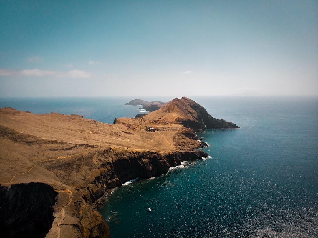 Drone shot of Ponta de São Lourenço.