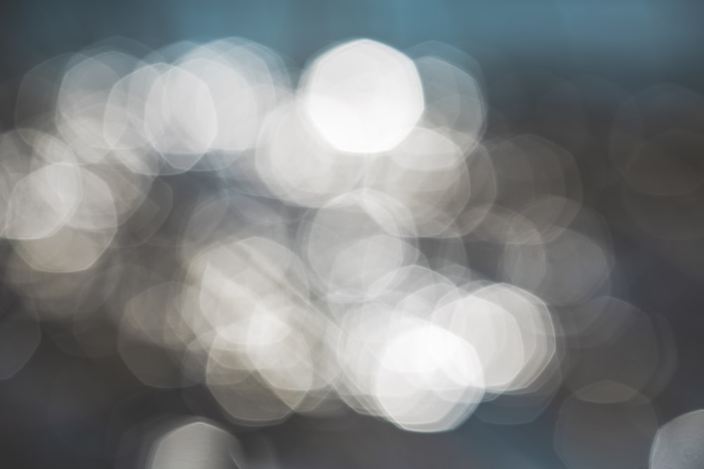 bokeh photography of white lights