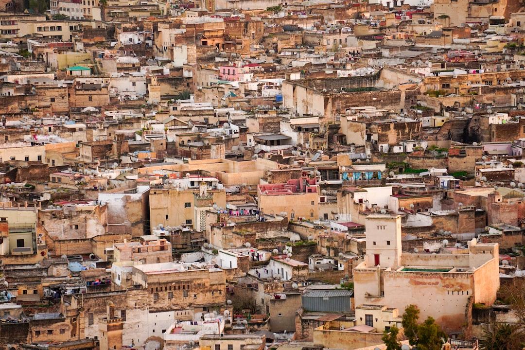 Fez City Center (Medina) from above.