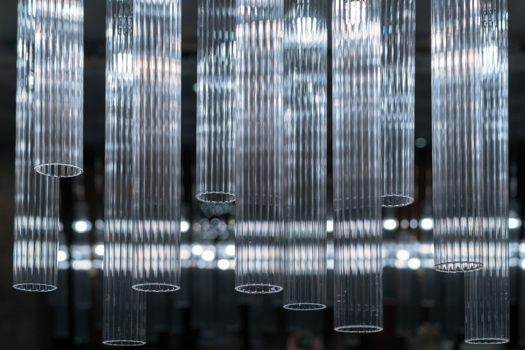 Glass tubes that were in a bar in a hotel in Dubai.