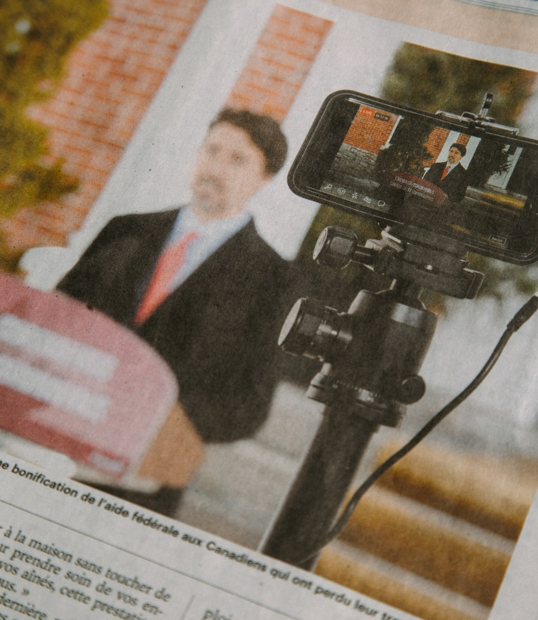 Trudeau addressing the Nation (Newspaper)