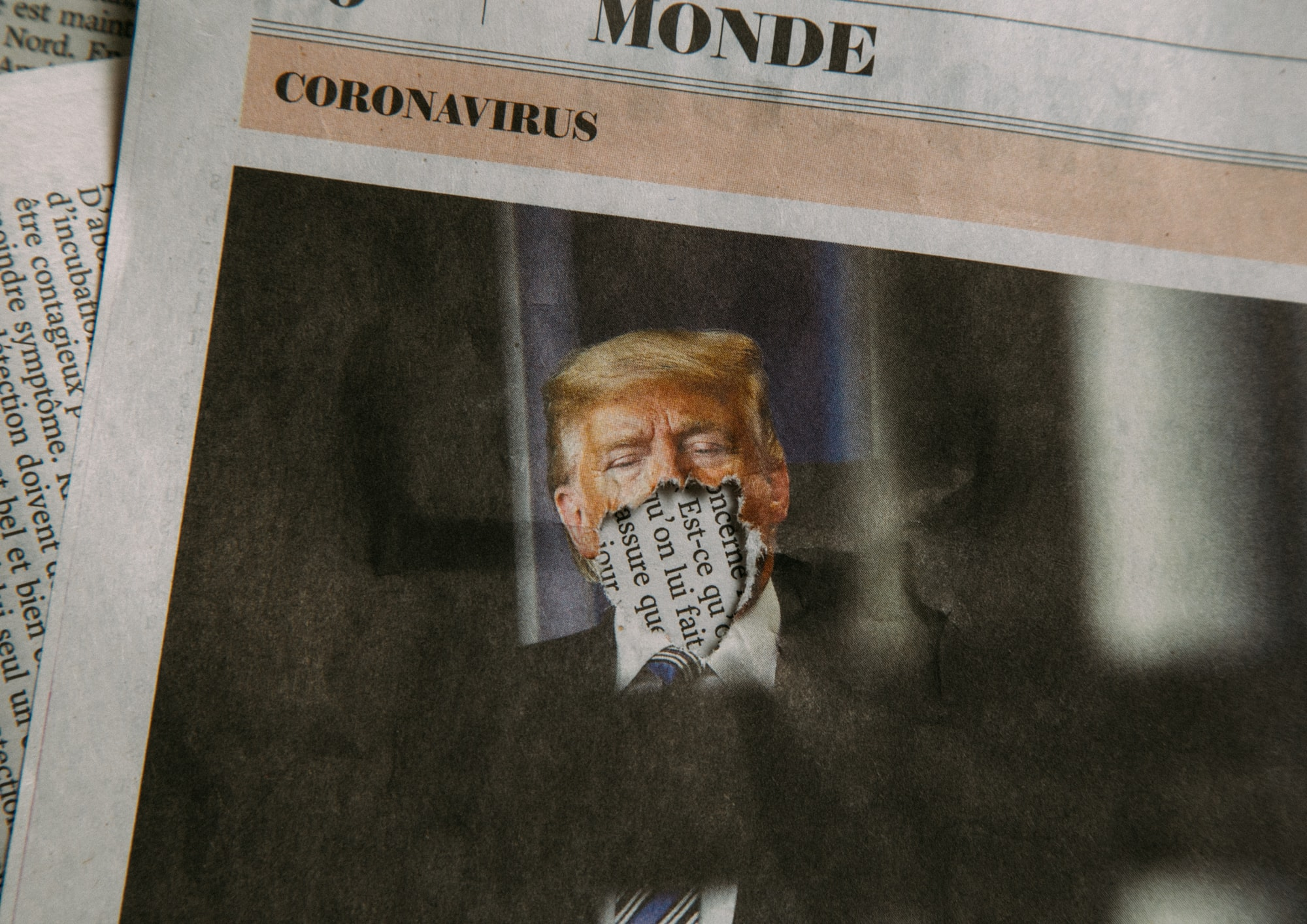 Trump and Coronavirus (Newspaper)