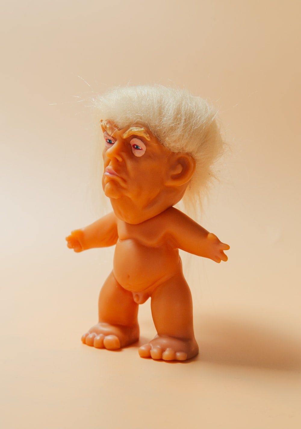 yellow haired male plastic toy