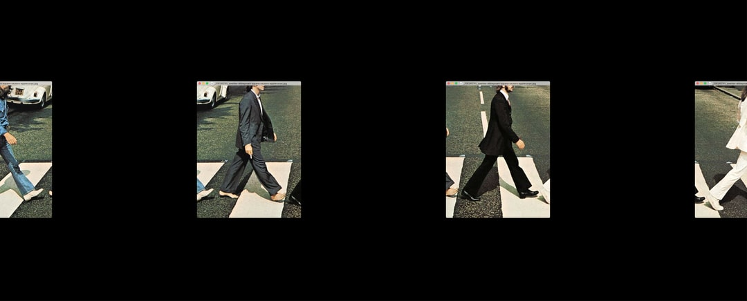 Abbey Road Crossing (Social Distancing Edition). Remix of the work by Photographer Iain Macmillan