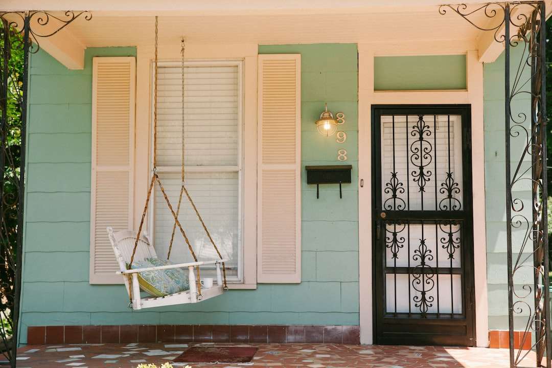 Memphis Porch with a Teal House