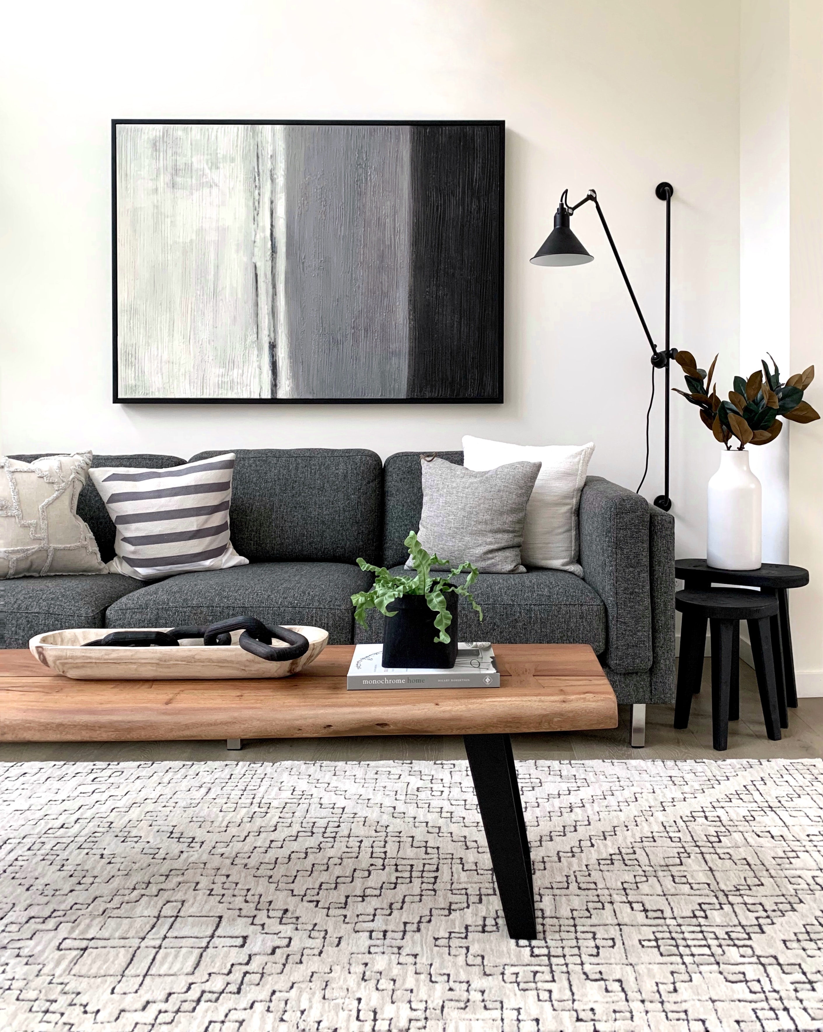 Black And White Throw Pillows On Gray Couch Photo Free Furniture Image On Unsplash