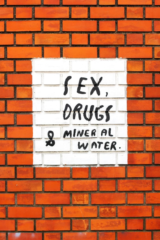 white and black brick wall