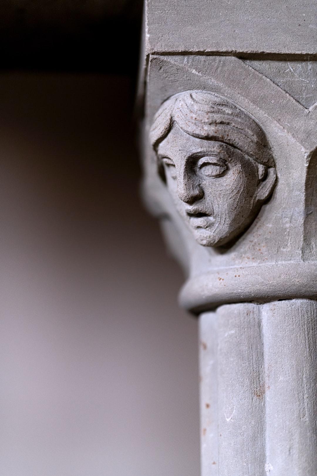 Art in a Church. Detail of a Column.