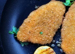 fried food on black frying pan