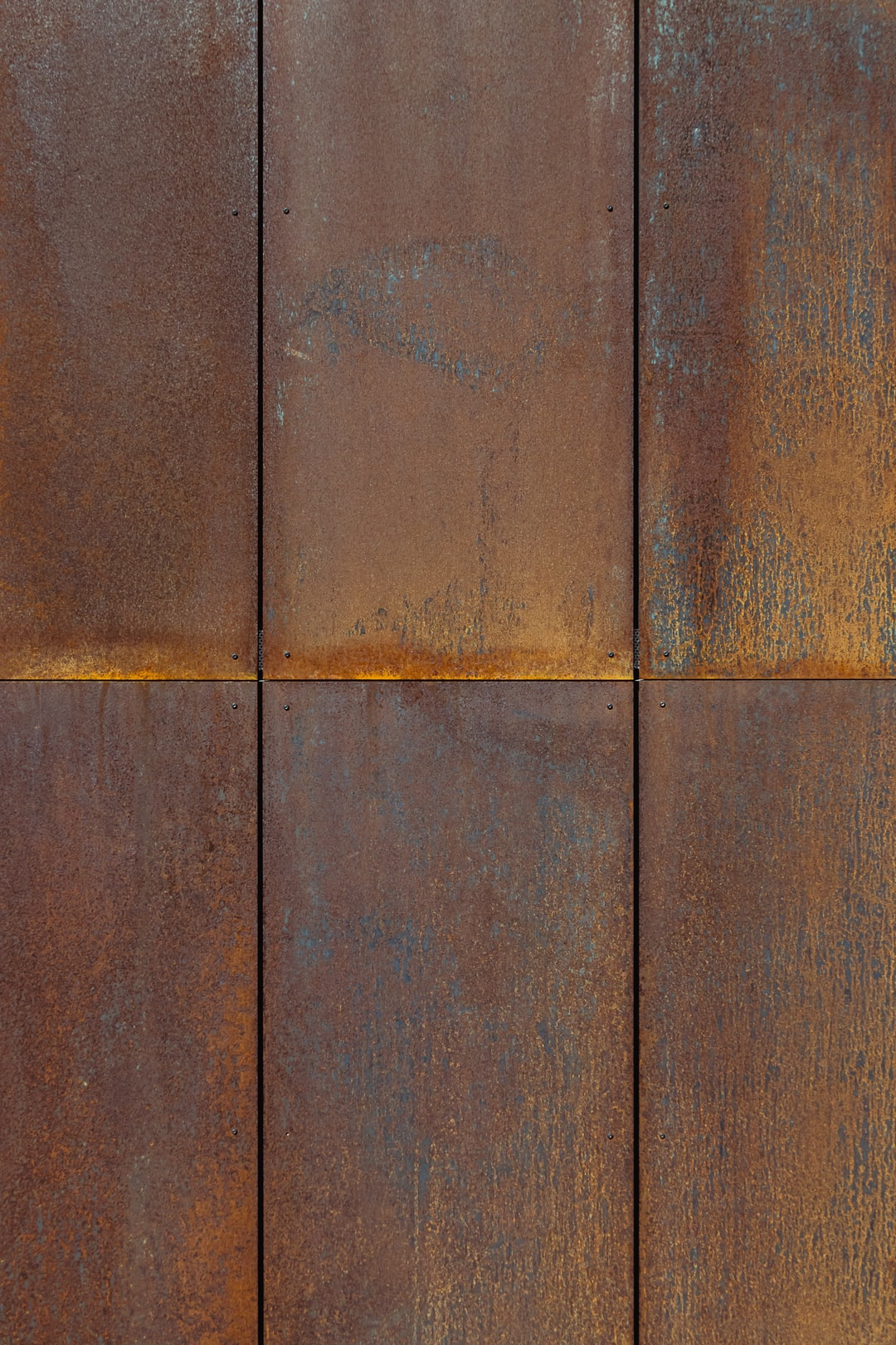 minimalist modern rusty steel wall panels