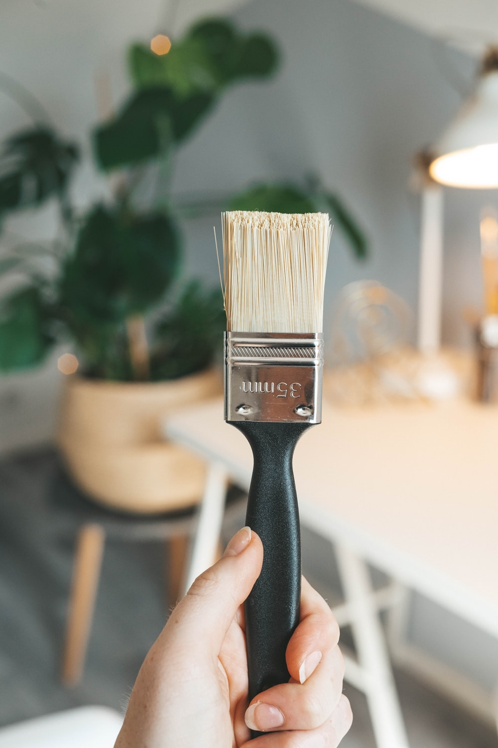 black and brown paint brush