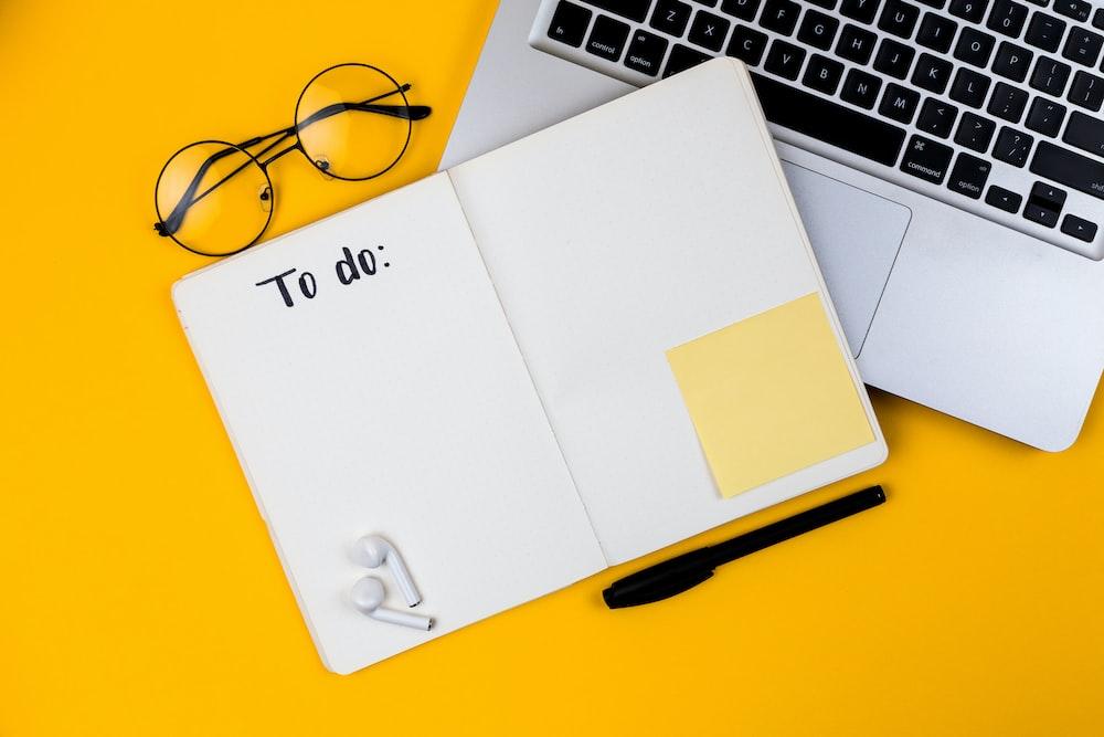 white printer paper on macbook pro