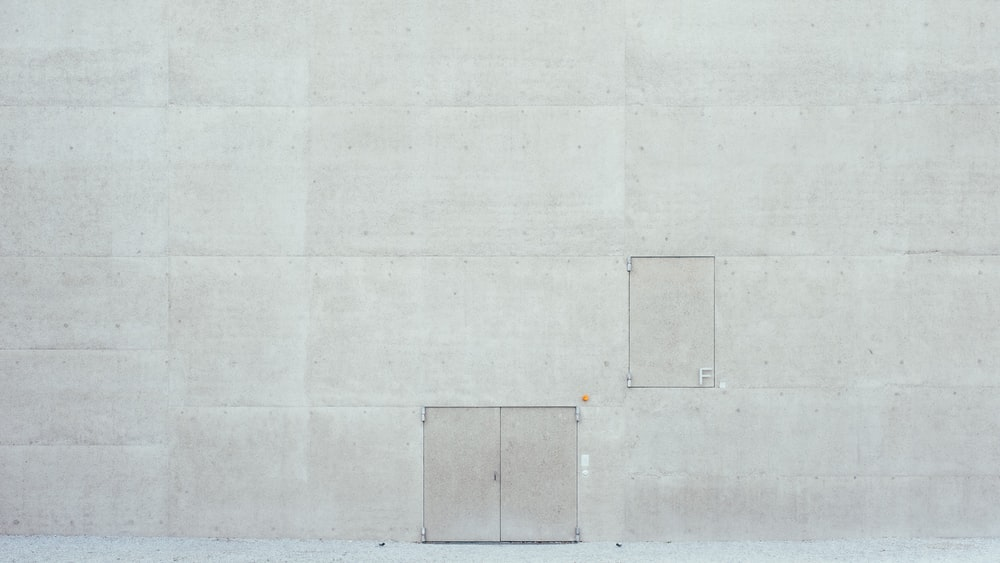 white wall with white paint
