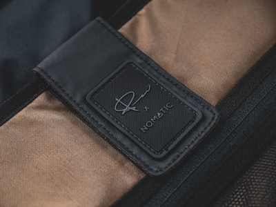 black and brown leather textile