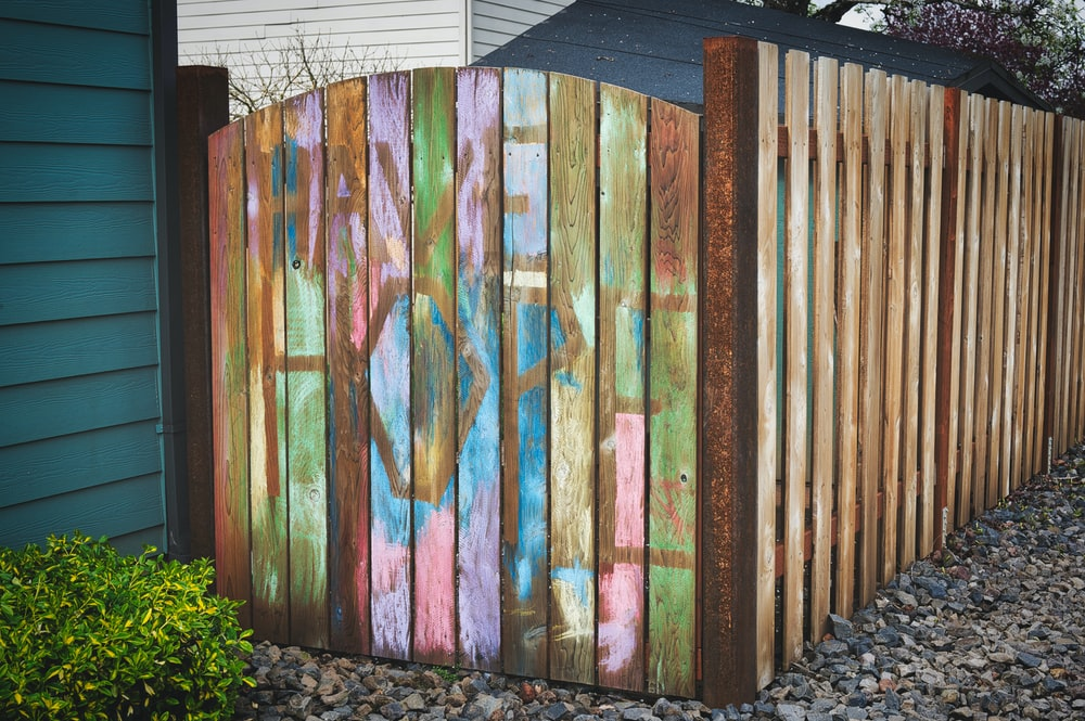brown blue and green wooden wall