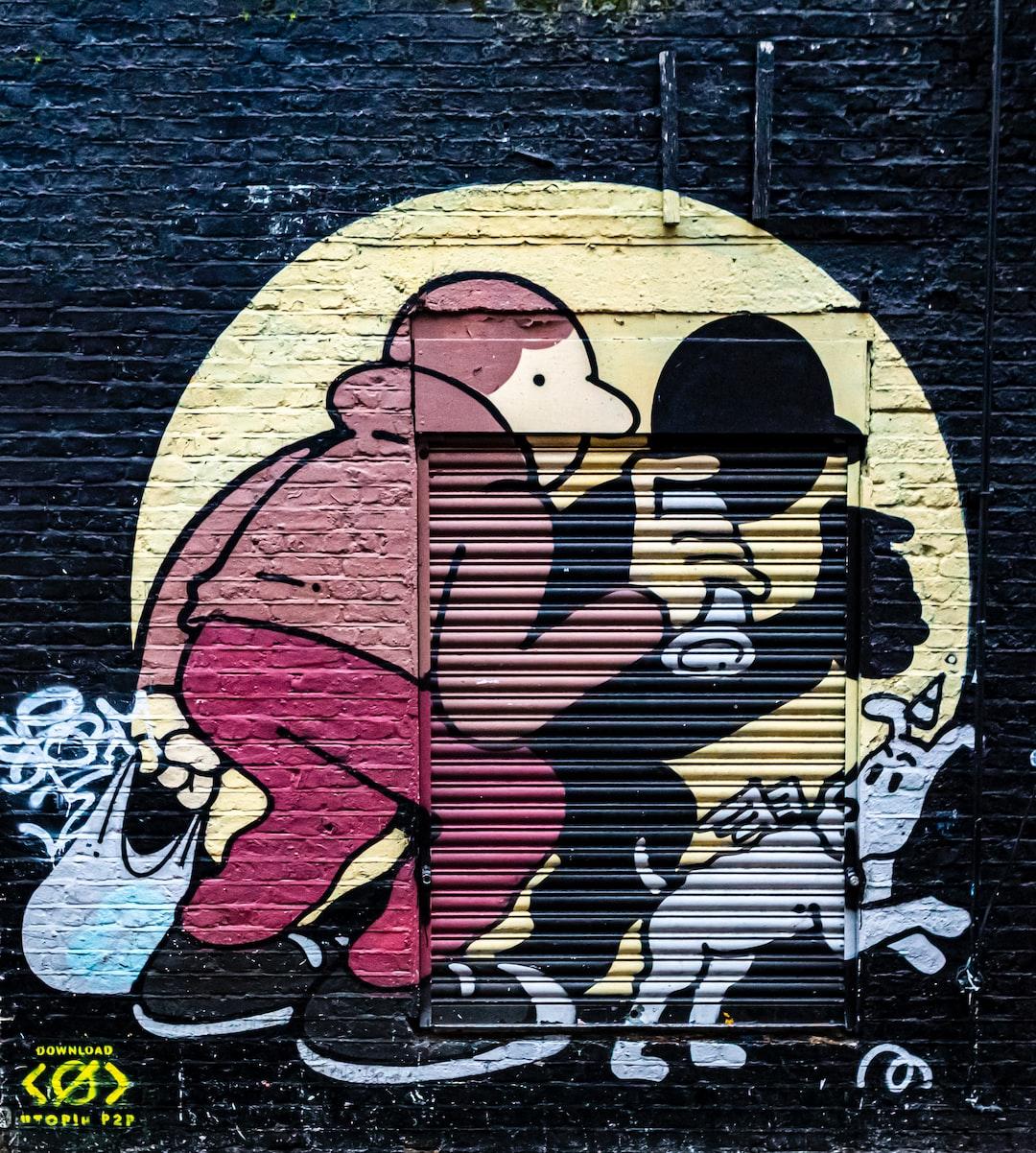 London Street Art, Graffiti, Paintings and Posters. Shoreditch, Brick Lane, London, Englland, UK. January 2020.