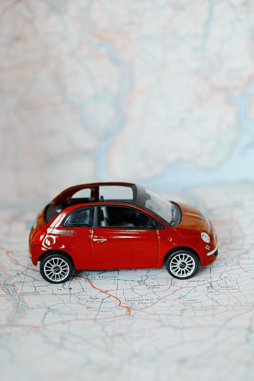 red volkswagen beetle scale model