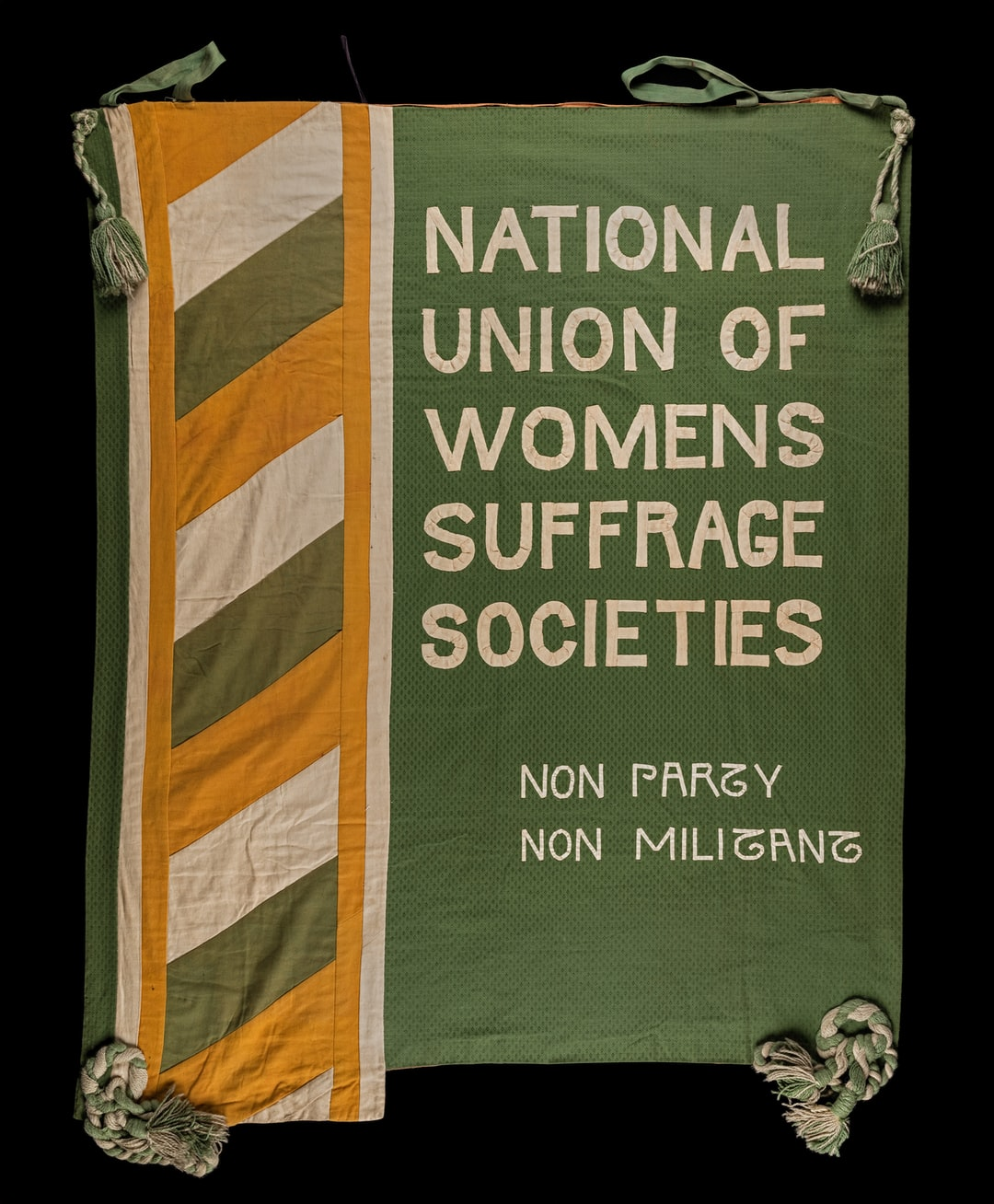 Suffrage banner, National Union of Women's Suffrage Societies. TWL.1998.02